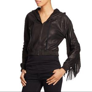 Elizabeth & James leather fringe jacket, sz S